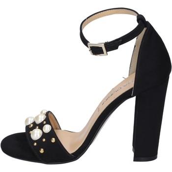 Cipők Női Szandálok / Saruk Olga Rubini sandali camoscio sintetico borchie Nero