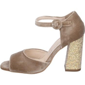 Cipők Női Szandálok / Saruk Olga Rubini sandali velluto Beige