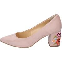 Cipők Női Félcipők Olga Rubini decollete camoscio sintetico Rosa