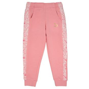 Ruhák Lány Futónadrágok / Melegítők Puma MONSTER SWEAT PANT GIRL Rózsaszín