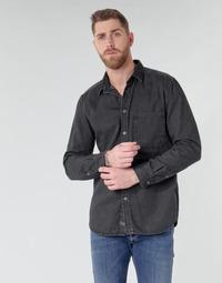 Ruhák Férfi Hosszú ujjú ingek Diesel D-BER-P Fekete