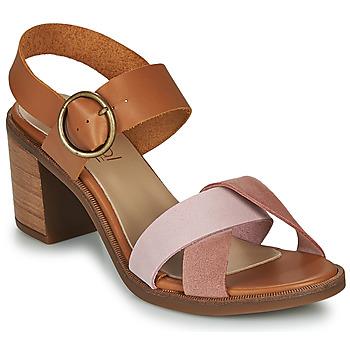Cipők Női Szandálok / Saruk Casual Attitude MEL Teve / Rózsaszín