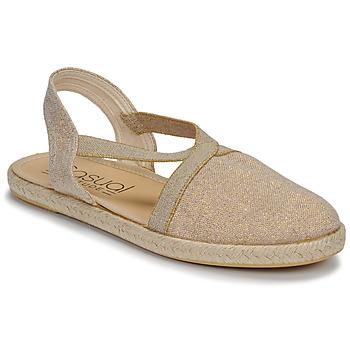 Cipők Női Szandálok / Saruk Casual Attitude MISSA Bézs / Arany