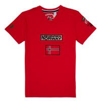 Ruhák Fiú Rövid ujjú pólók Geographical Norway JIRI Piros