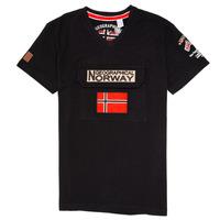 Ruhák Fiú Rövid ujjú pólók Geographical Norway JIRI Fekete
