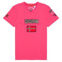 Ruhák Fiú Rövid ujjú pólók Geographical Norway JIRI Rózsaszín