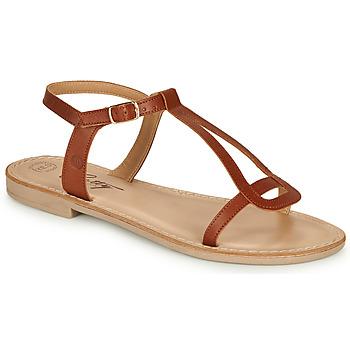Cipők Női Szandálok / Saruk Betty London MISSINE Konyak