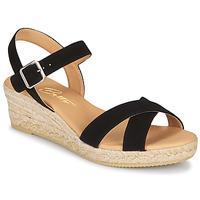 Cipők Női Szandálok / Saruk Betty London GIORGIA Fekete  / Kéreg
