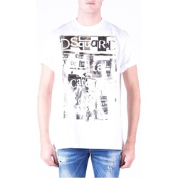 Ruhák Férfi Rövid ujjú pólók Dsquared S74GD0531 Fehér