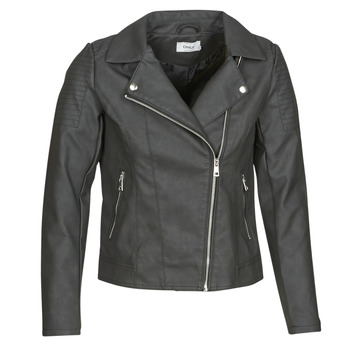 Ruhák Női Bőrkabátok / műbőr kabátok Only ONLMELANIE BIKER Fekete