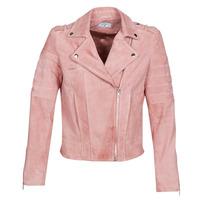 Ruhák Női Bőrkabátok / műbőr kabátok Betty London MARILINE Rózsaszín