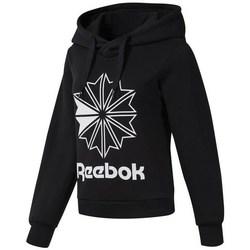 Ruhák Női Pulóverek Reebok Sport CL FL Big Logo Hood Fekete