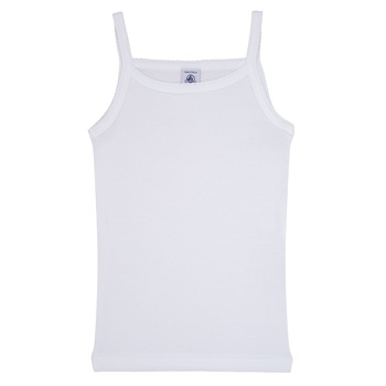 Ruhák Lány Trikók / Ujjatlan pólók Petit Bateau  Fehér