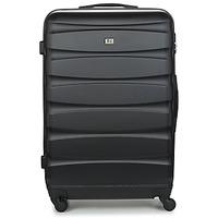 Táskák Keményfedeles bőröndök David Jones CHAUVETTINI 107L Fekete