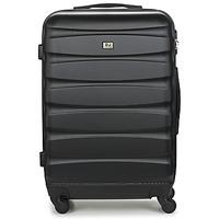 Táskák Keményfedeles bőröndök David Jones CHAUVETTINI 72L Fekete