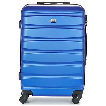 Táskák Keményfedeles bőröndök David Jones CHAUVETTINI 72L Tengerész