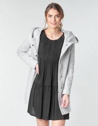 Ruhák Női Kabátok Moony Mood ADELINE Szürke / Tiszta