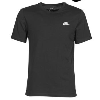 Ruhák Férfi Rövid ujjú pólók Nike M NSW CLUB TEE Fekete  / Fehér