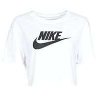 Ruhák Női Rövid ujjú pólók Nike W NSW TEE ESSNTL CRP ICN FTR Fehér / Fekete