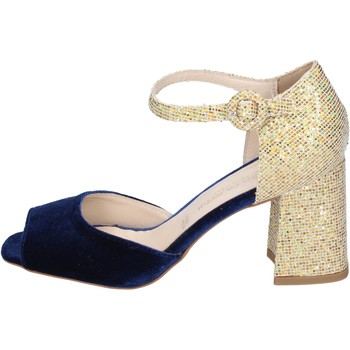 Cipők Női Szandálok / Saruk Olga Rubini sandali velluto glitter Blu