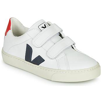 Cipők Gyerek Rövid szárú edzőcipők Veja SMALL-ESPLAR-VELCRO Fehér / Kék / Piros