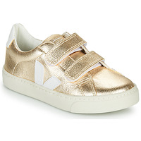 Cipők Lány Rövid szárú edzőcipők Veja SMALL-ESPLAR-VELCRO Arany / Fehér