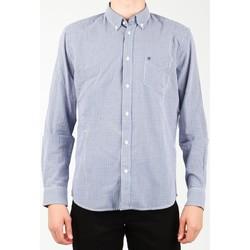 Ruhák Férfi Hosszú ujjú ingek Wrangler Koszula  1 PKT Shirt W5929M8DF niebieski, biały