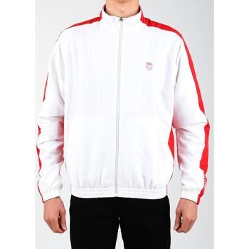 Ruhák Férfi Melegítő kabátok K-Swiss Kurtka lifestylowa  Accomplish Jacket 100250-119 biały, czerwony
