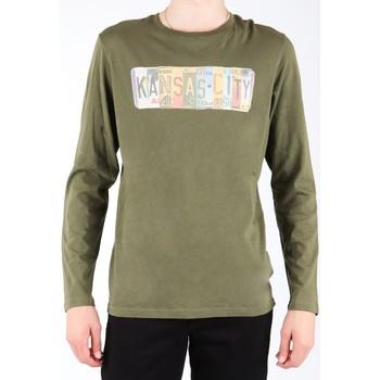 Ruhák Férfi Hosszú ujjú pólók Lee T-shirt  L848AI oliwkowozielony