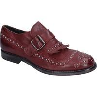 Cipők Női Mokkaszínek Moma BP885 Bordó