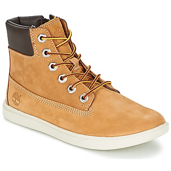 Cipők Gyerek Csizmák Timberland GROVETON 6IN LACE WITH SIDE ZIP Búza