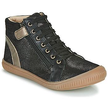 Cipők Lány Magas szárú edzőcipők GBB RACHIDA Fekete