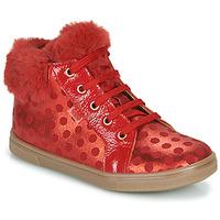 Cipők Lány Magas szárú edzőcipők GBB JUNA Piros