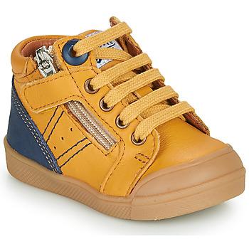 Cipők Fiú Magas szárú edzőcipők GBB ANATOLE Citromsárga
