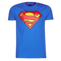 Ruhák Férfi Rövid ujjú pólók Yurban SUPERMAN LOGO CLASSIC Kék