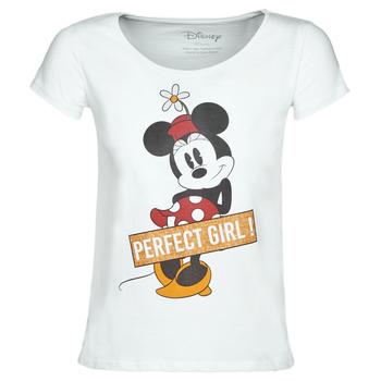 Ruhák Női Rövid ujjú pólók Yurban MINNIE PERFECT GIRL Fehér