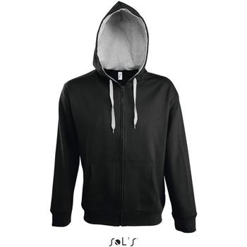 Ruhák Férfi Melegítő kabátok Sol's Veste zippé à capuche  Soul noir