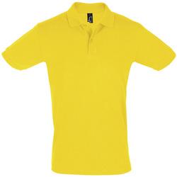 Ruhák Férfi Rövid ujjú galléros pólók Sols PERFECT COLORS MEN Amarillo