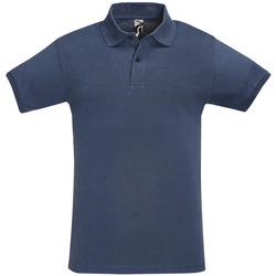 Ruhák Férfi Rövid ujjú galléros pólók Sols PERFECT COLORS MEN Azul