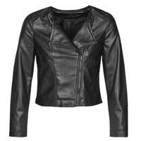 Ruhák Női Bőrkabátok / műbőr kabátok Only ONLDALY Fekete