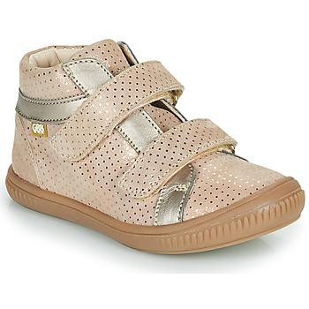 Cipők Lány Magas szárú edzőcipők GBB EDEA Bézs