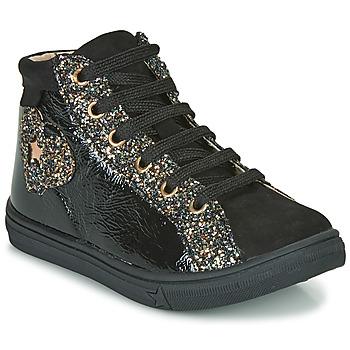 Cipők Lány Magas szárú edzőcipők GBB MARTA Fekete