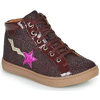Cipők Lány Magas szárú edzőcipők GBB TADEA Bordó