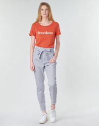 Ruhák Női Chino nadrágok / Carrot nadrágok Vero Moda VMEVA Fehér / Szürke