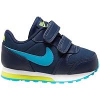 Cipők Fiú Futócipők Nike MD Runner 2 Granatowe