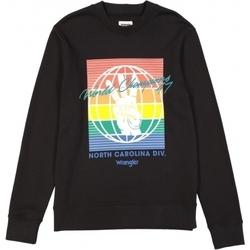 Ruhák Férfi Pulóverek Wrangler Sweat  Globe noir/multicolore