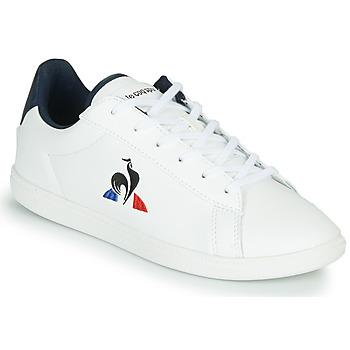 Cipők Gyerek Rövid szárú edzőcipők Le Coq Sportif COURTSET GS Fehér / Kék