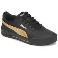 Cipők Női Rövid szárú edzőcipők Puma CARINA Fekete  / Arany