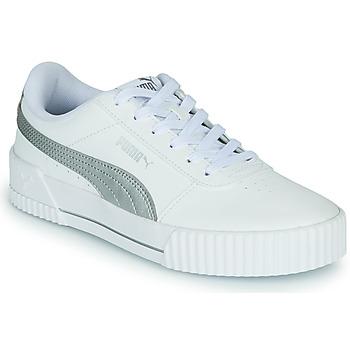 Cipők Női Rövid szárú edzőcipők Puma CARINA Fehér / Ezüst