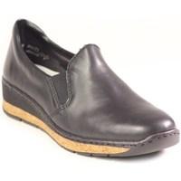 Cipők Női Mokkaszínek Rieker 5976600 Fekete